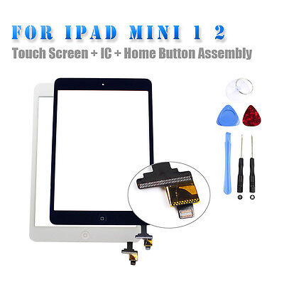 Touch Screen Glass Digitizer IC Connect  Replacement Assembly For iPad mini 1 2