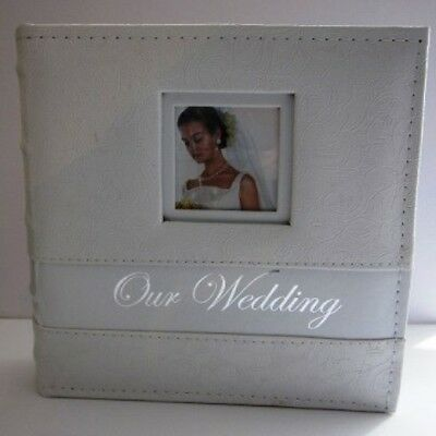 "Small Wedding/Bridal Photo Album - White rose design - ""our wedding"""
