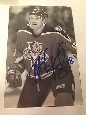 Mike Hough SIGNED 4x6 photo FLORIDA PANTHERS