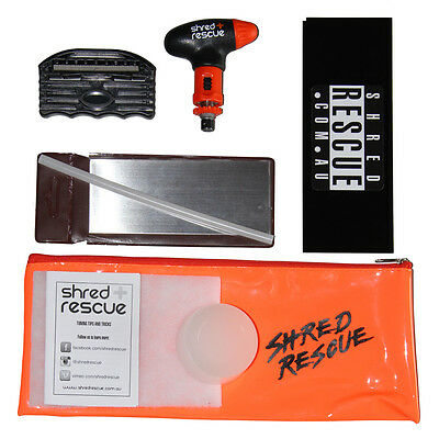 DIY Snowboard Tuning Kit Shred Rescue File Guide Wax Scraper Tool P-tex