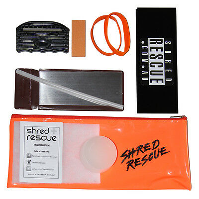 DIY Ski Tuning Kit Shred Rescue File Guide Wax Scraper P-tex Brake Retainers