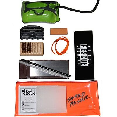 PRO Ski Tuning Kit + Waxing Iron Shred Rescue File Wax Brush P-tex Stone Scraper