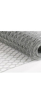 Rabbit/Chicken/Poutry Wire Mesh Netting 915mm x 50m Roll 30mm HEX Holes - 0.91mm