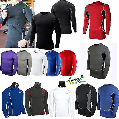 3Type Mens Boy Body Armour Compression Baselayers Thermal Under Shirt Tops Skins