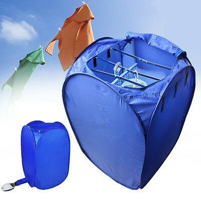 800W Portable Electric Air Clothes Dryer Folding Fast Drying Machine Bag Box New