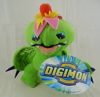 Digimon Stofftier Figur Plüsch Plush Play By Play 2000 - PALMON 21cm #434
