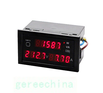 Digital Watt Power Meter Volt  Amp Voltmeter 80 110V 240V 300V Voltage Ammeter
