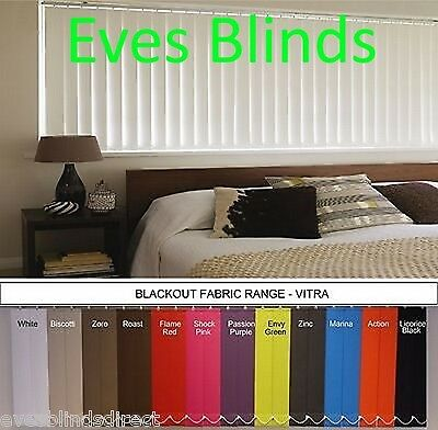 Made to Measure Replacement BLACKOUT Vertical blind Louvre Vanes 89mm