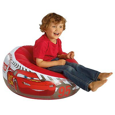 Disney Cars Inflatable Chair For Children Bedroom & Play Room Furniture Comfy