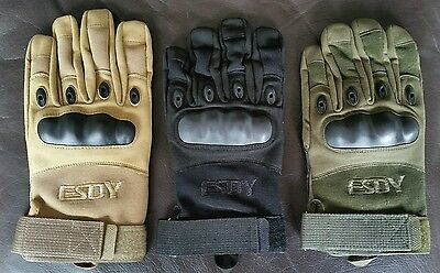 ESDY Military Spec Full Finger Gloves Armored Tactical