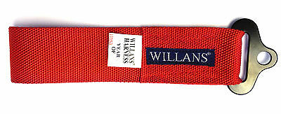 Willans Car Towing Strap Recovery Eye 4x4 Track & Race Ready - Red