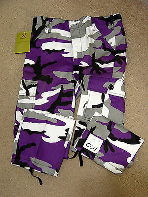 Kids Youth Boys Girls US Military Army Camo  Pants Fatigues BDU  Clothes NEW