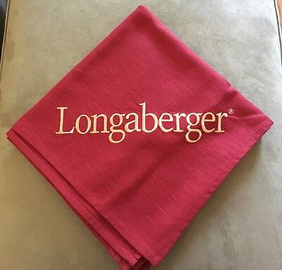 "Longaberger Paprika 54"" Square Embroidered Fabric Tablecloth - Award"