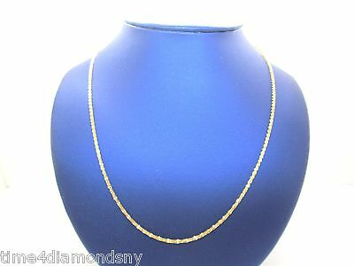 Estate Solid 18K Yellow Gold Diamond Cut Necklace 3.2 Grams Made In Italy