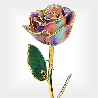 24k Gold Dipped Opal Real Rose (Free Christmas Gift Box)