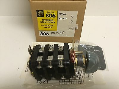 New Old Stock! Allen-Bradley Reversing Drum Switch 806-Ds-2485 806Ds2485 3-Pos