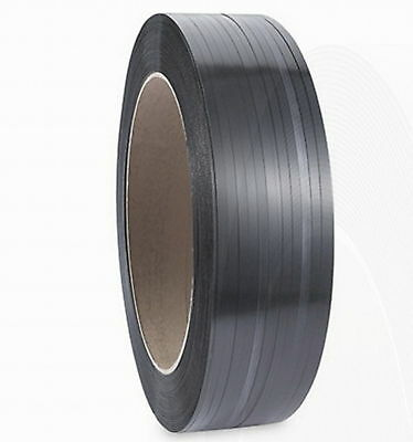 "NEW ULINE S821, 1/2""W x 7200'L Black Polypropylene Strapping Textured Grip S-821"