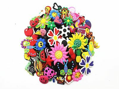 Lot of 50 Mixed PVC Different Shoe Charms for Croc & Jibbitz Bands Bracelet W...