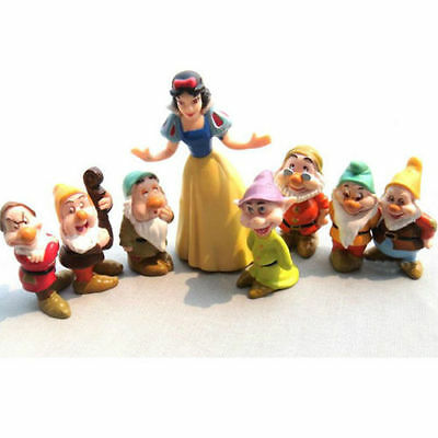 8Pcs Set Action Figures Figurine Snow White and the Seven Dwarfs Child Toy Gift