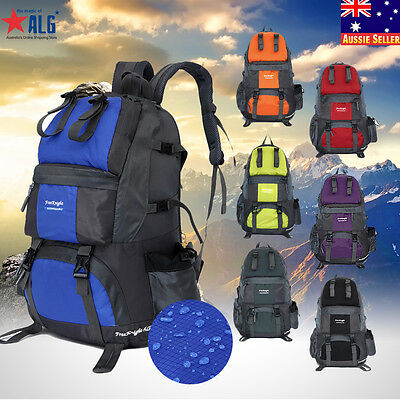 40L/50L Large Outdoor Backpack Hiking Bag Camping Travel Waterproof Bag Pack New