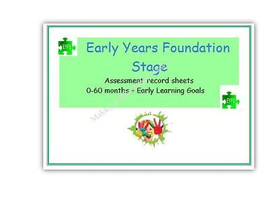 EYFS individual progress record/tracker childminder eyfs resource 0-60 months