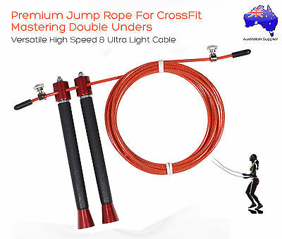 Light Weight Aluminium Speed Jump Rope For Rx Double Under WODs, MMA And Boxing