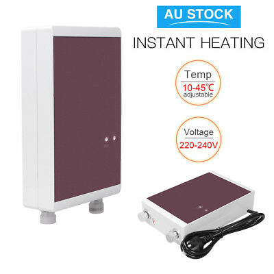 Instant Electric Water Heater Caravan Bath Shower Tap Faucet Hot Water System