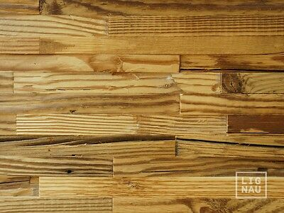 Antique Wall Cladding Reclaimed Wood Paneling Recycled 3D Vintage Panel brushed