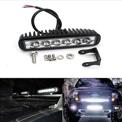 18W CREE LED Work Light Bar 4WD Spot Beam Offroad Driving Fog Lamp ATV SUV Truck