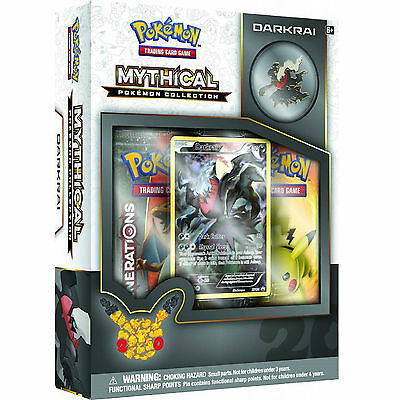 Pokemon Mythical Darkrai Collection Box: Generations Booster Packs + Promo Card