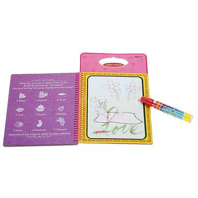 Magic Water Drawing Book Coloring Book Doodle Butterfly Princesses Painting A7E8