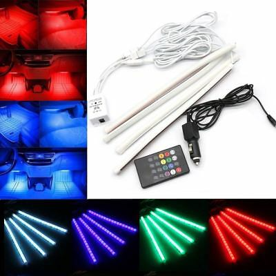 4x 30LED Car Interior Atmosphere Light Footwell Cigarette Lighter Decor Lamp RGB