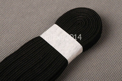 Black Synthetic Silk Ito Sageo Wrapping Cord for Japanese Swords tsuka binding
