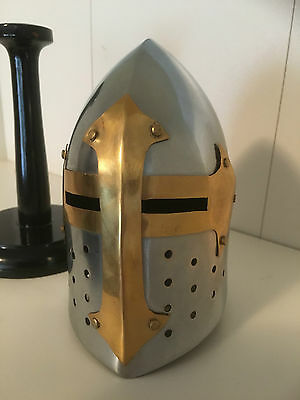 Mini Knights Helmet Medieval Knight Desk Top Collectable Medieval Larp Mancave