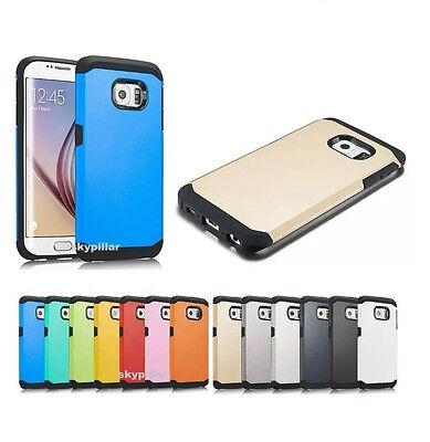 Case Cover Samsung GALAXY S6 & Edge Plus Slim Armor Hybrid Hard Silicone
