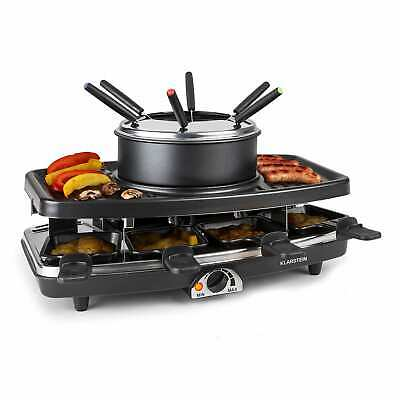 Raclette Grill Anti Adhesif Appareil A Fondue 8 Poelons Barbecue De Table Combo