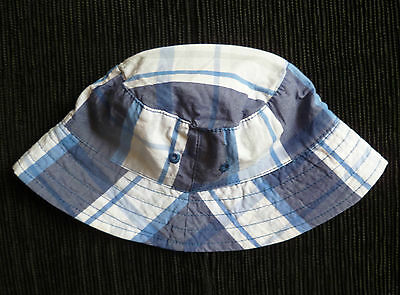 Baby clothes BOY 0-3m cotton+cotton lining blue/white/navy blue sun hat SEE SHOP