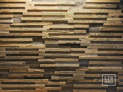Antique Wall Cladding Reclaimed Wood Paneling Recycled Vintage 3D weathered