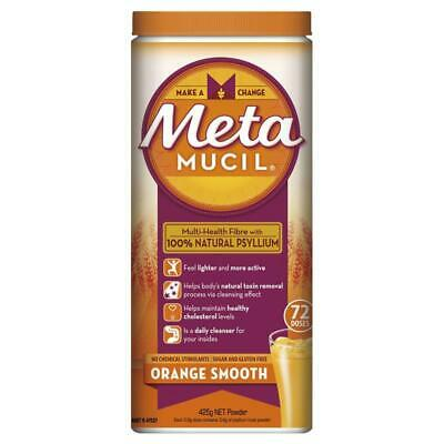 Metamucil Fibre Supplement Smooth Orange 72 Dose 425g