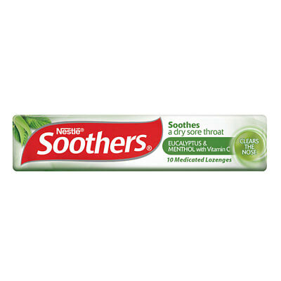 Soothers Eucalyptus/Menthol Lozenges 10