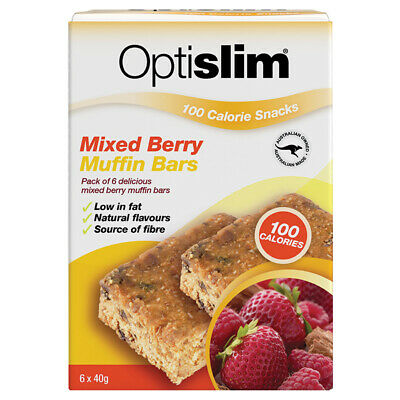 Optislim 100 Calorie Snack Mixed Berry Muffin Bars 6 x 40g