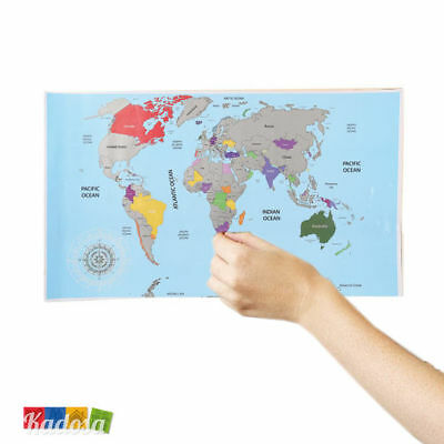 Cartina da Grattare - Scratch World Map Idea Regalo Viaggi Mondo Mappamondo