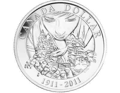 2011 Proof Silver Dollar - 100th Anniversary of Parks Canada