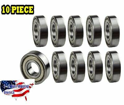 608-ZZ Ball Bearing Dual Sided Metal Shielded Deep Groove (10PCS)