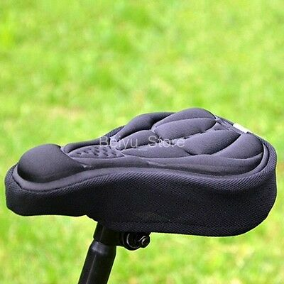 Bike Cycling Bicycle Silicone Saddle Seat Cover Silica Gel Cushion Soft Pad Red