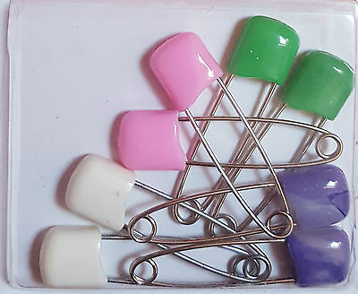 Pack of 8 Nappy Pins Baby Diaper Pins Safety Lock Pins for Nappies Safety Pins