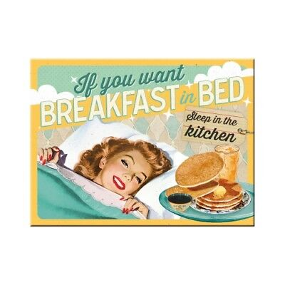 Nostalgic-Art Magnet 8x6 cm - Breakfast in Bed