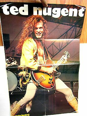 Vintage Grooves Ted Nugent and The Cars Poster