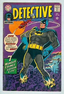 Detective #368 October 1967 VG Classic Cover