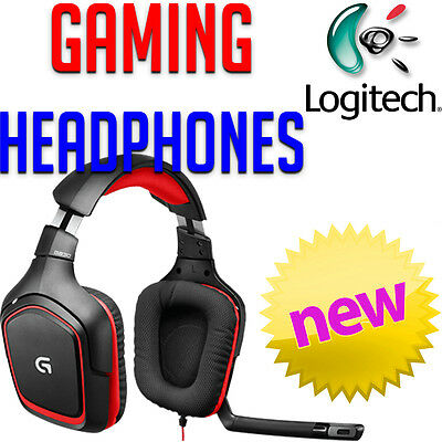 Logitech G230 Gaming Stereo Surround Sound Headphones Headset Microphone PC NEW
